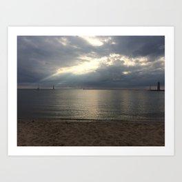 Muskegon- Calm After the Storm Art Print