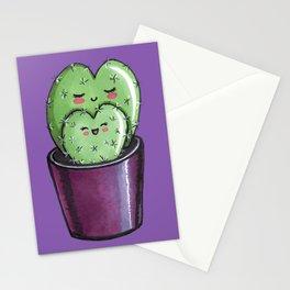 Cactus mom kawaii Stationery Cards