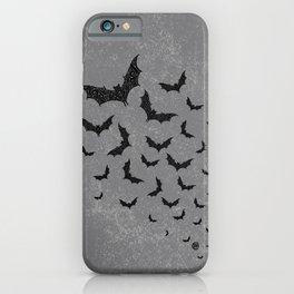 Swirly Bat Swarm iPhone Case