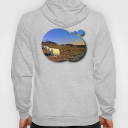 Hay bales and panorama | landscape photography Hoody