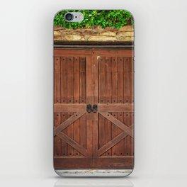 Door and Ivy Backdrop iPhone Skin