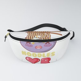 Anime Kawaai Cat Japanese Ramen Noodles Fanny Pack