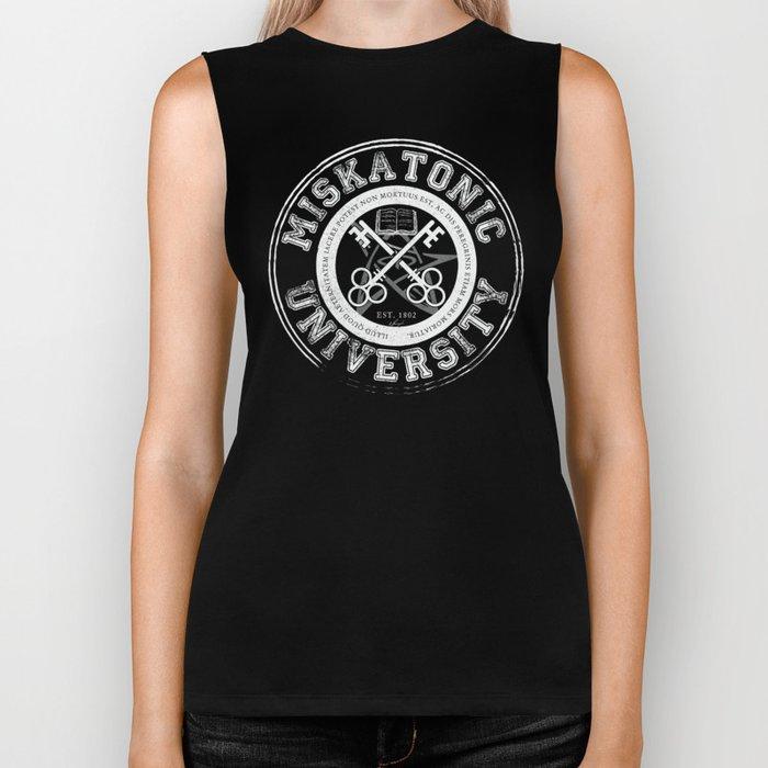 Miskatonic University Emblem (Dark version) Biker Tank
