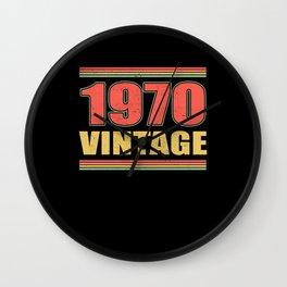 Vintage 1970 Year Of Birth Birthday Wall Clock
