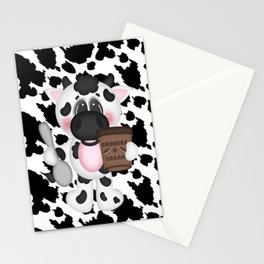 Cow Eating Ice Cream Stationery Cards