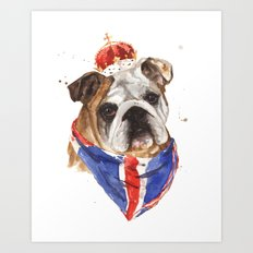 Thank you LONDON - British BULLDOG - Jubilee Art Art Print