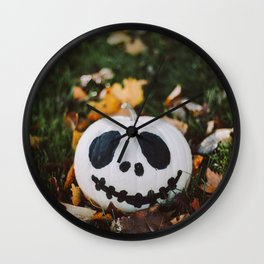 Jack Skeleton Pumpkin Wall Clock