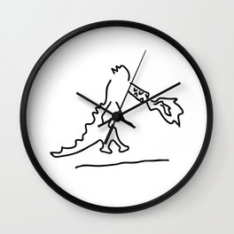 fire vomits dragon from the fairy tale Wall Clock