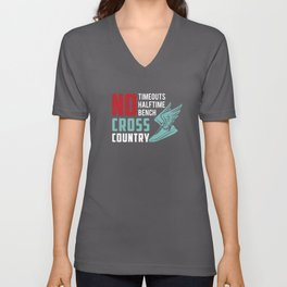 Cross Country Runner Cardio Fitness Running Cross-Country Racing Racer Gift Idea Unisex V-Neck