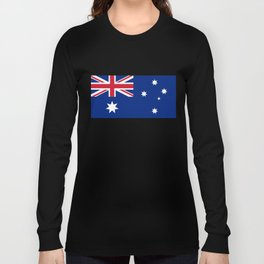 The National flag of Australia, authentic version (color & scale 1:2) Long Sleeve T-shirt