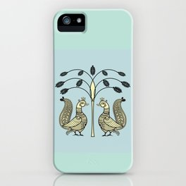 Ethic Art Indian Ducks with tree iPhone Case