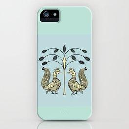 Ethnic Art Indian Ducks with tree iPhone Case