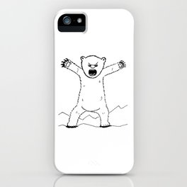 Angry Bear Standing iPhone Case