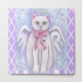 The Angel Cat Metal Print