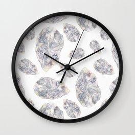 Diamond Birthstone Watercolor Illustration Wall Clock