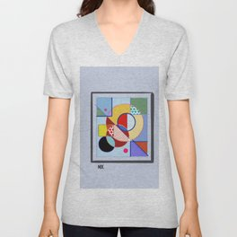 LINES AND CIRCLES Unisex V-Neck