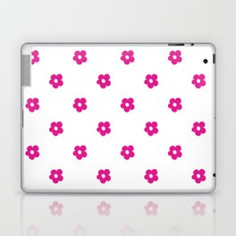 Hot Pink Ditsy Dot Flower Pattern Laptop & iPad Skin