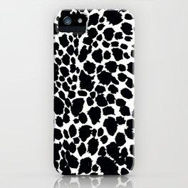 Animal Print Cheetah Black and White Pattern #4 iPhone Case