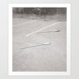 Two Brooms Art Print