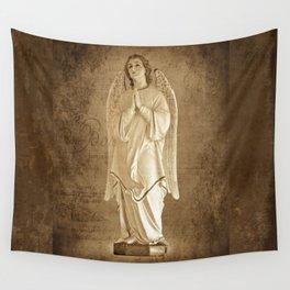 Archangel Gabriel in Prayer Wall Tapestry