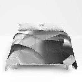 Monochromatic Cubism Comforters
