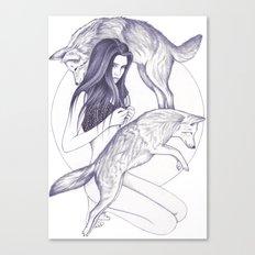 Wolf Moon Canvas Print