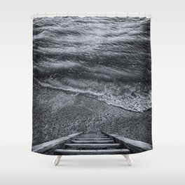 Steps to the Sea Shower Curtain