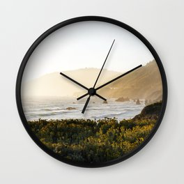 Route 1 along the Pacific Ocean in Northern California Wall Clock