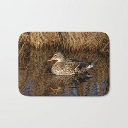 Mallard Duck Reflecting Bath Mat