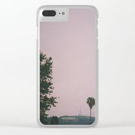 Rainy Hollywood - a rare sight Clear iPhone Case