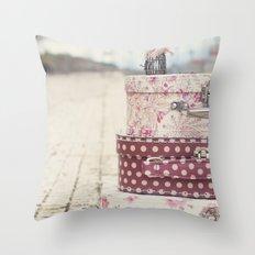 Vintage travel Throw Pillow