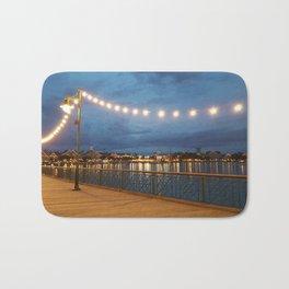 Boardwalk at Night in Florida - Photo by Jessica Hamilton Bath Mat