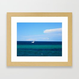 Busselton Tacking Framed Art Print