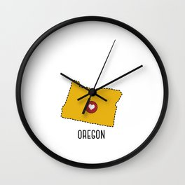 Oregon State Heart Wall Clock