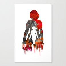 Black Widow Print Canvas Print