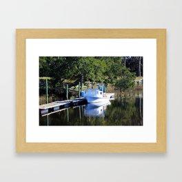 Little Shrimp Boat Framed Art Print