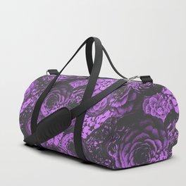 Moody Florals in Purple Duffle Bag