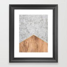 Concrete Arrow Wood #345 Framed Art Print