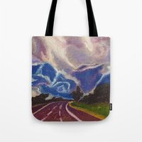 road Tote Bags featuring Road by Shazia Ahmad