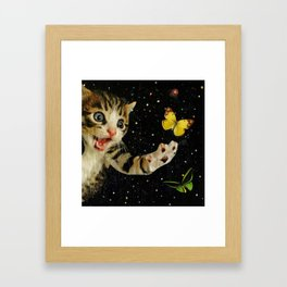 All Across the Universe Chasing Butterflies and Dreams Framed Art Print