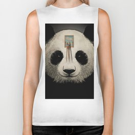 Panda window cleaner 03 Biker Tank