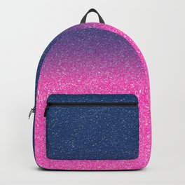 Trendy Metallic Royal Blue Hot Pink Glitter Gradient Backpack