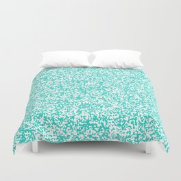 Tiny Spots - White and Turquoise Duvet Cover