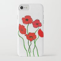 poppy iPhone & iPod Cases featuring Poppy  by Armine Nersisian