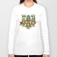 tmnt Long Sleeve T-shirts featuring TMNT by Micka Design