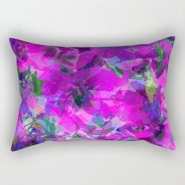 Purple Jungle Poppies Rectangular Pillow