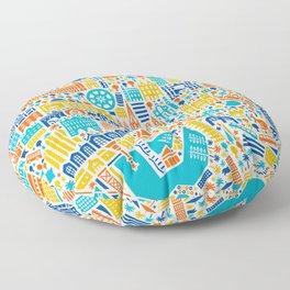 Vianina Barcelona City Map Poster Floor Pillow