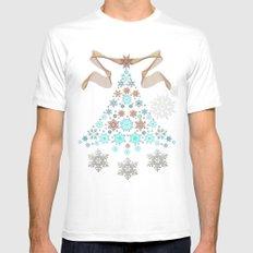Bright Christmas Tree White MEDIUM Mens Fitted Tee