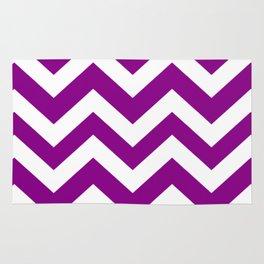 Mardi Gras - violet color - Zigzag Chevron Pattern Rug