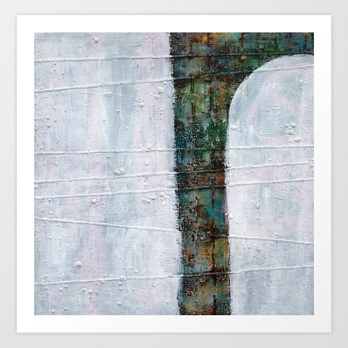 Forest White  Art Print
